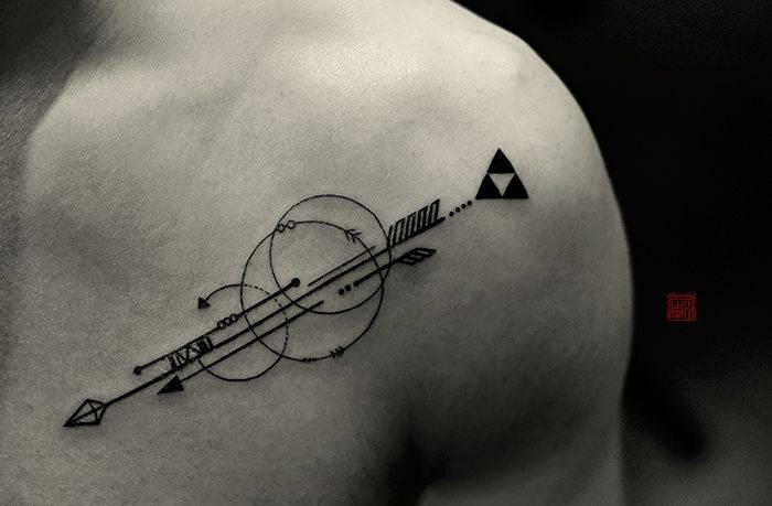 """tattootemple: """" Arrows for Mike - artwork and tattoo by Elizabeth - www.tattootemple.hk """""""