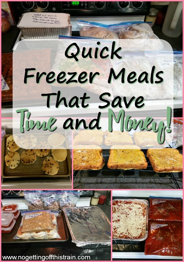 Save time and money on food by making quick freezer meals! Here is a list of tried-and-true, easy freezer meal recipes, both breakfast and dinner!