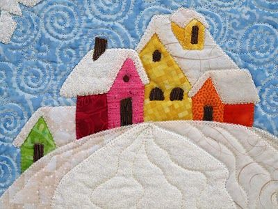 winter wonderland quilt - simple and sweet Make placemats or mug rugs for Christmas!