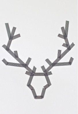 Christmas Art: Make Reindeer with tape   on a canvas. Paint over it. Peel off tape. LOVE!! Want to make one in red and one in green for each kiddo!
