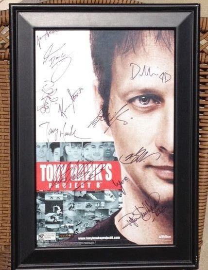 Tony Hawk Ryan Sheckler XBOX Multi Autograph Skateboard Project 8 Billboard SALE