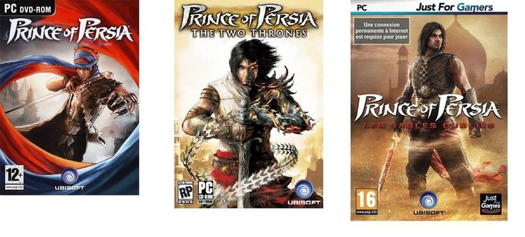 Lot de 3 jeux Prince of Persia - PC - NEUF