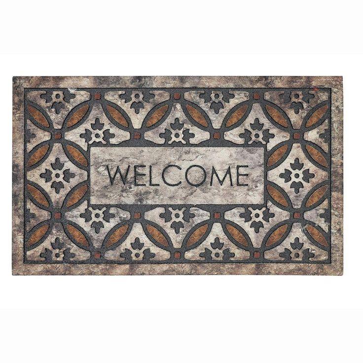Welcome Door Mat Orange Circles Weatherproof Recycled Rubber 18 in. x 30 in. | Home & Garden, Rugs & Carpets, Door Mats & Floor Mats | eBay!