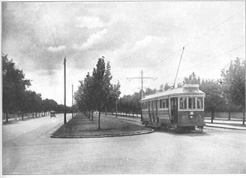 Tram on Dandenong Road, ca. 1921.
