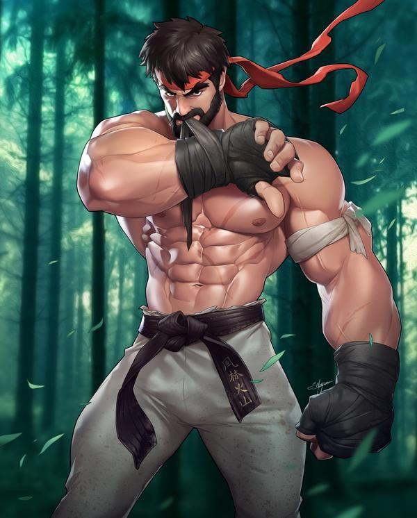 Bearded Ryu By Silverjow Ryu Street Fighter Street Fighter Art Street Fighter Characters
