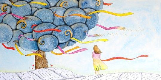 """wish tree"" by cinzia mazzoni on #INPRNT - #illustration #print #poster #art"