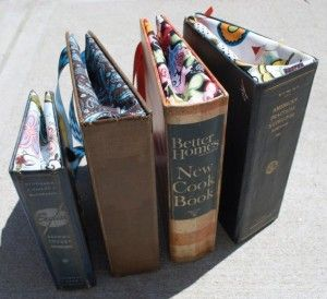 'book' bag - I'll have to see if I can find a book I can part with to try this!