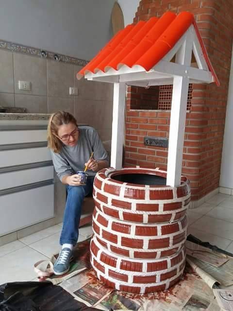 Increíble Idea para Hacer una Maceta con Viejos Neumáticos (Paso a Paso)