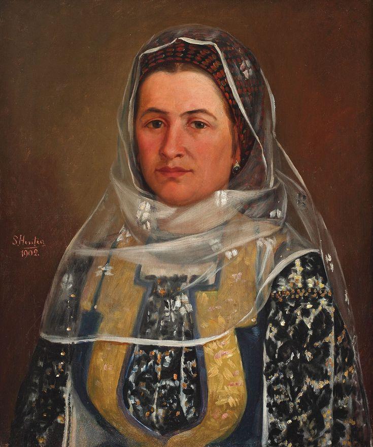 Portret de femeie în costum popular 1901