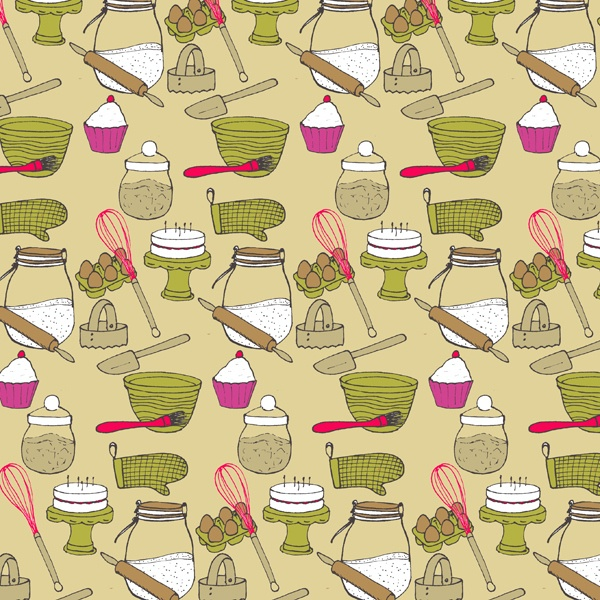 Daily Pattern No. 15 - The Great British Bake Off   by Emma K Henderson