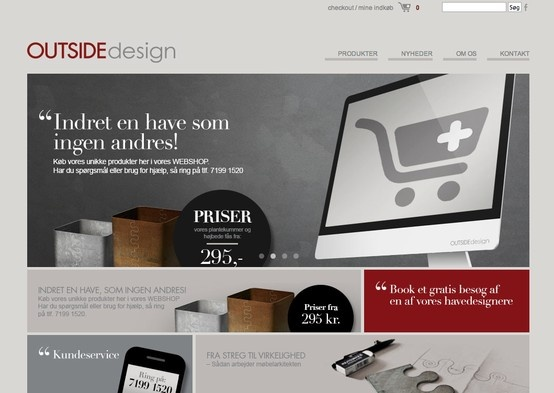 Implementering og opsætning af design til Outside Design Webshop.