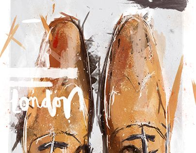 """Check out new work on my @Behance portfolio: """"London Brogue Shoe Digital Painting"""" http://be.net/gallery/36466047/London-Brogue-Shoe-Digital-Painting"""