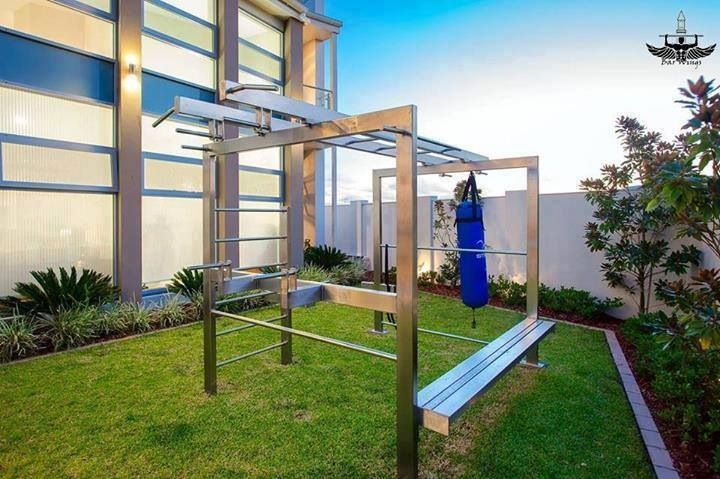 Nice backyard gym