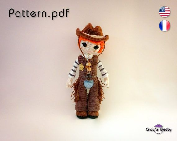 Pattern  Clint the Cowboy by CrocsBetty on Etsy