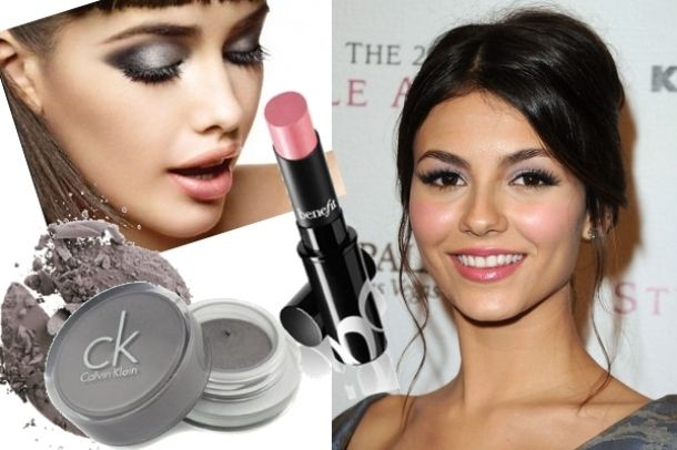 victoria justice lilac eyeshadow and pink blush
