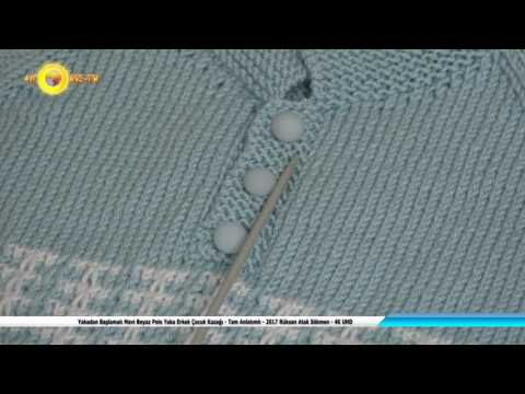 Yakadan Başlamalı Mavi Beyaz Polo Yaka Erkek Çocuk Kazağı-Tam Anlatımlı-2017 Rüksan Sökmen - 4K UHD - YouTube