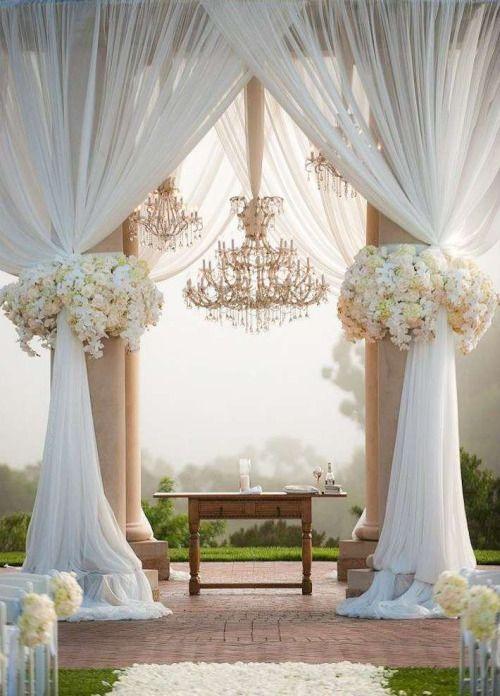 wedding aisle decoration idea