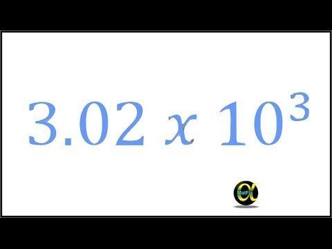 Convertir un decimal a notación científica y viceversa - YouTube