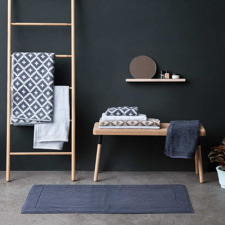 Bathroom Textiles in Soft Cotton by Framsohn Frottier designed in Austria #MONOQI