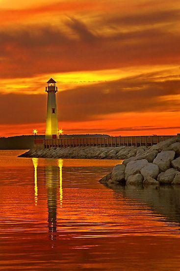 Wawatam Lighthouse, St. Ignace, Michigan