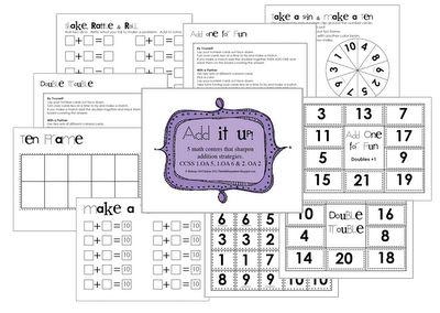 Super cute math centers freebie from The Bubblegum Tree!  @Dana White and @Lisa Jones - math week?