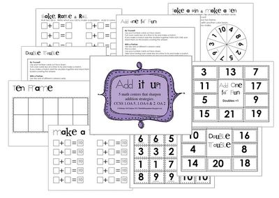 Math tens frame printable/activities