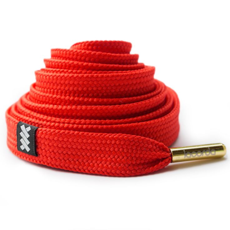 new style bfe5d 469d2 My first tutorial OG Shoelace Belt – Red Lacorda Threads ...