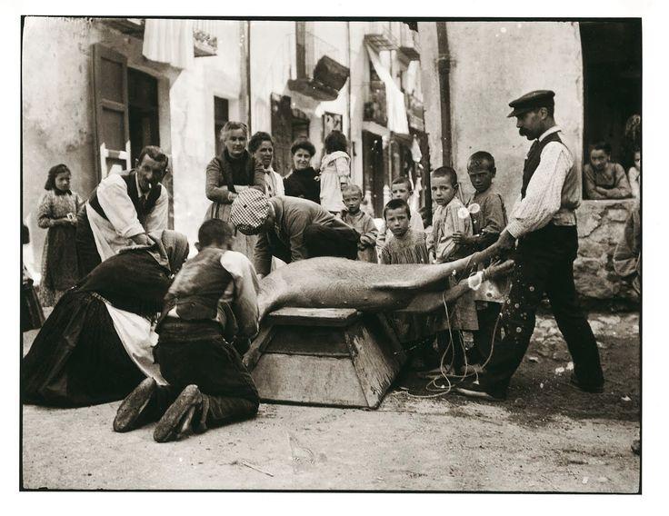 La matança del porc, Camprodon, 1924