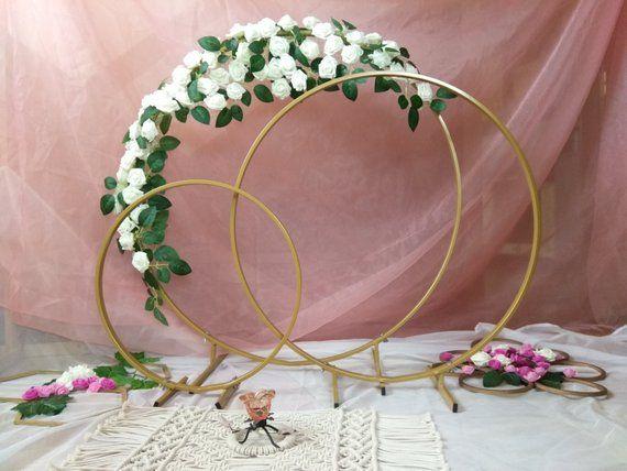 Little Wedding Arch Metal Round Wedding Arch Moon Wedding Decor