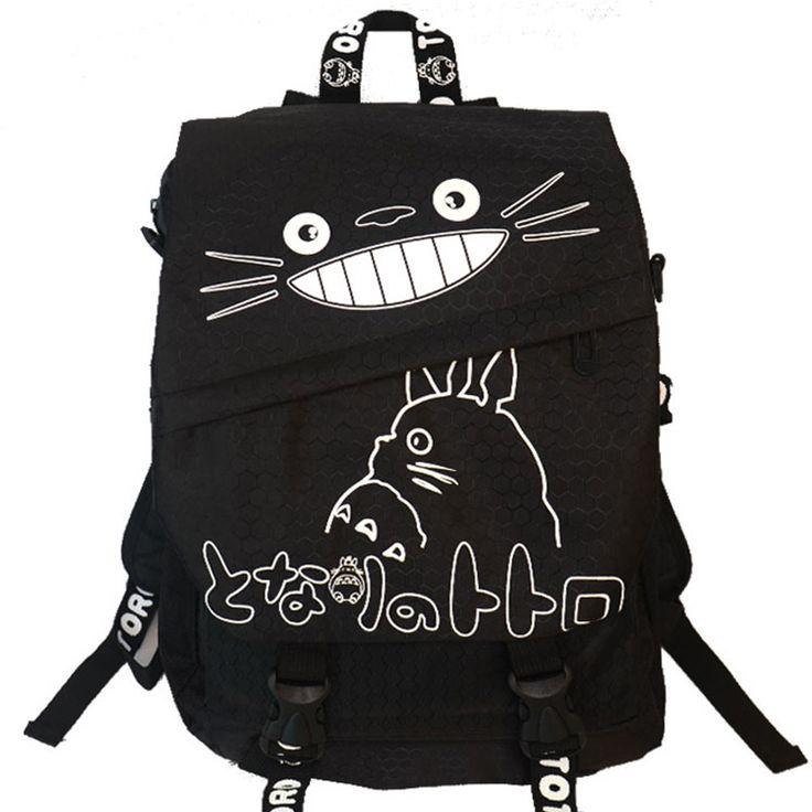 Hayao Miyazaki Totoro Bag Anime Backpack School Bags 2016 Oxford Cartoon Book Bookbag Teenagers My Neighbour Totoro Printed - free shipping worldwide