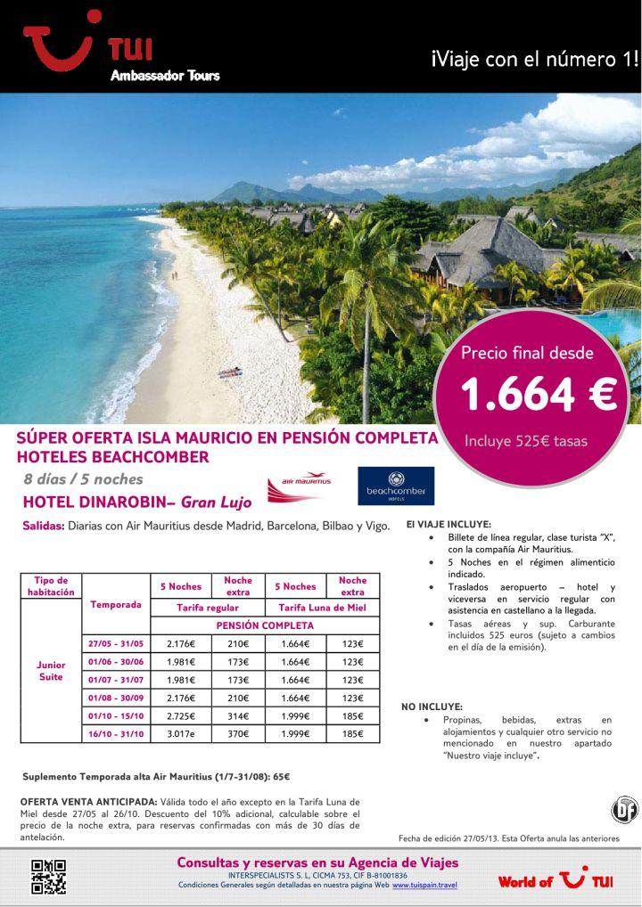 Oferta Isla Mauricio estancia hotel Dinarobin. Precio final desde 1.664€ - http://zocotours.com/oferta-isla-mauricio-estancia-hotel-dinarobin-precio-final-desde-1-664e/