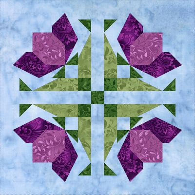 Block Eight Magenta Miracle.  Members Login.  Free to Members under Mystery-Block-Of-The-Month