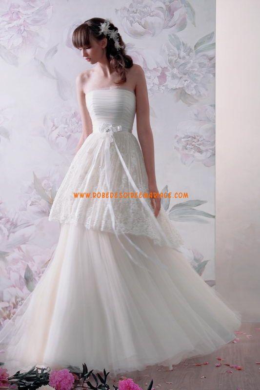 Robe de mariée tulle dentelle bustier sans traine  2013 Wedding ...