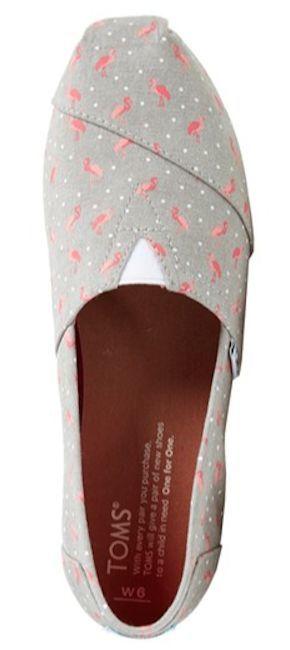 slip-on flamingo print Toms