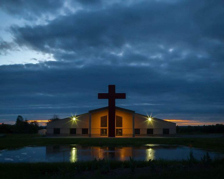 Church at sunset, Orleans, On