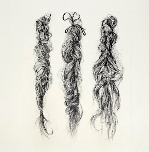: Hair Drawings, Braids Hair Style, Sketch, Drawings Hair, Illustrations, Art Inspiration, Hairs, Art Drawings, Messy Braids