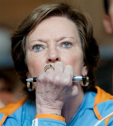 Pat Summitt. Im honored to have met/ran drills with her