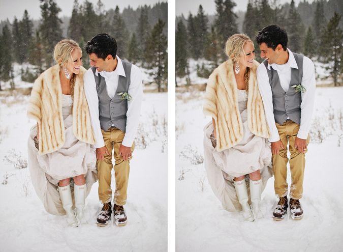 Boots And Love The Off White Wedding Dress Pinterest Dresses Winter Weddings