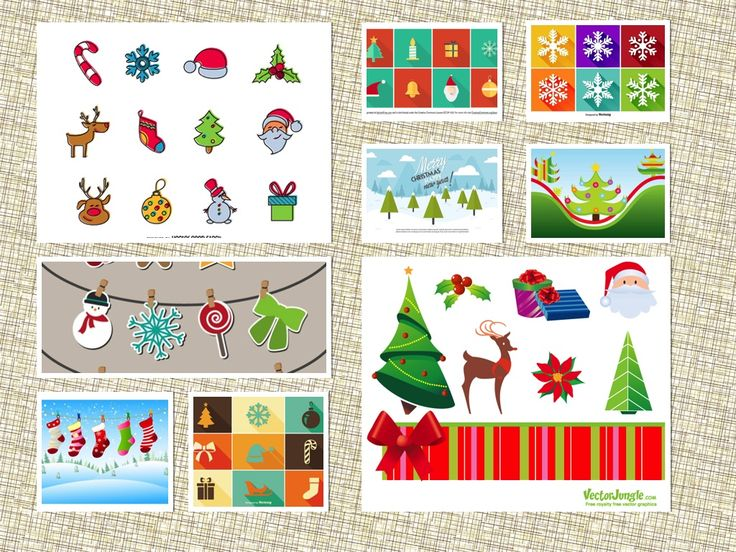 Below is top 9 Free Christmas Vector Simple And Modern.