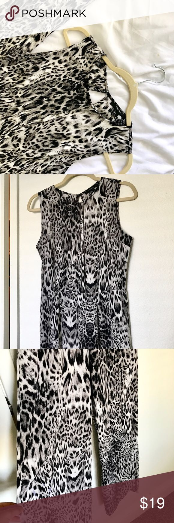 Wide leg jumpsuit #animalprint Animal print jumpsuit open back Dresses