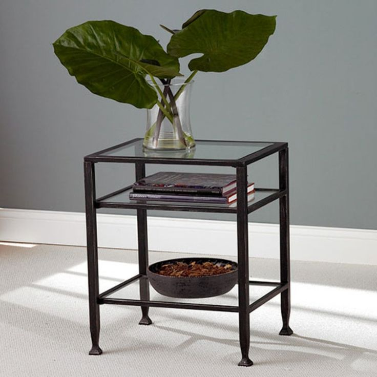 Southern Enterprises Black Metal End Table - Sometimes you just need an upgrade. Update your home decor with the modern appeal of the Southern Enterprises Black Metal End Table. Order one table f...