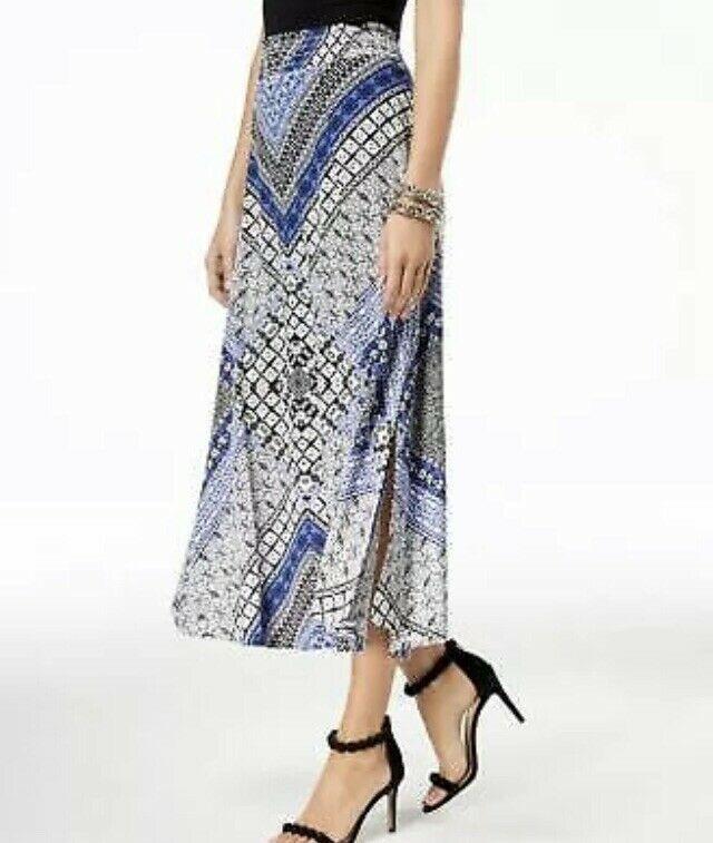 66b4ed2eef INC International Concepts Womens Midi Skirt NEW $70 NWT Sz XL Printed  Patchwork | eBay