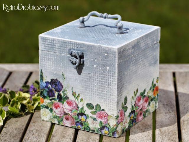 decoupage flower box, chalk paints