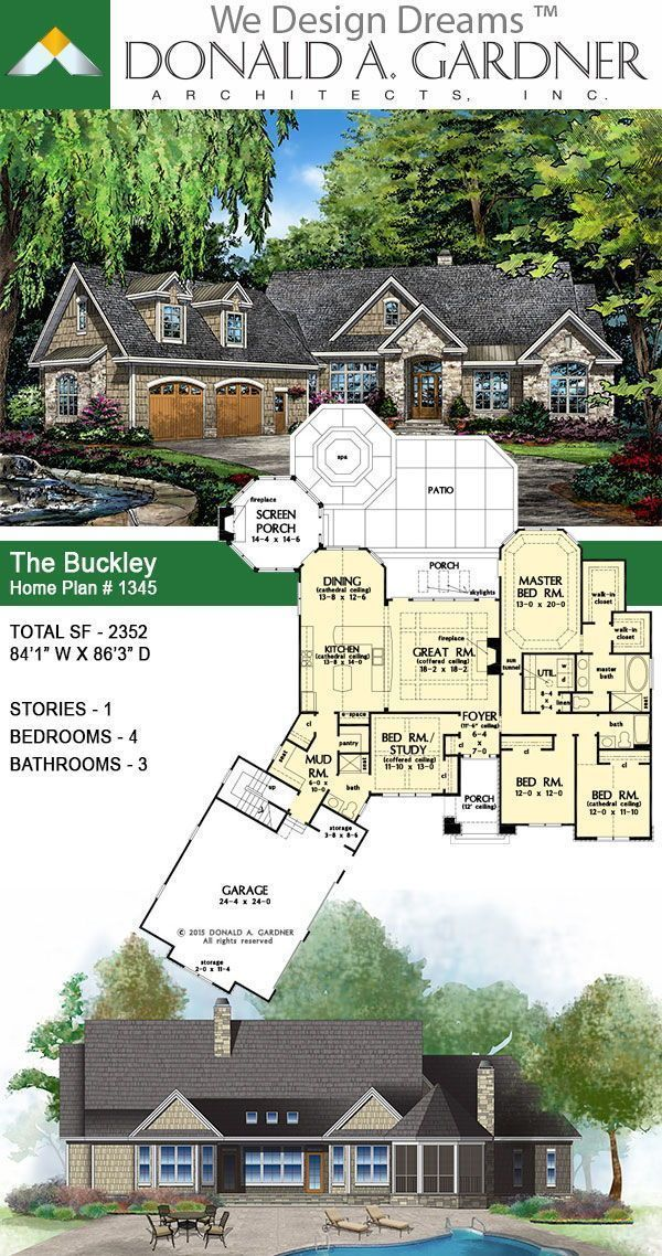 Take A Closer Look At The Buckley House Plan 1345 Smallhouseplan Smallhomeplan Onestoryh In 2020 Craftsman House Plans Dream House Plans New House Plans