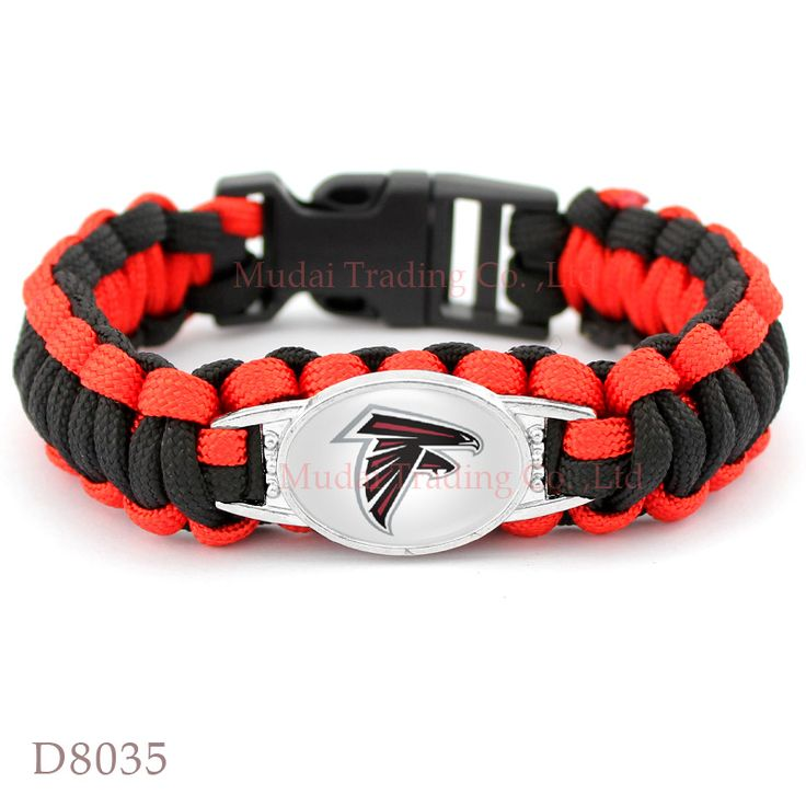 (10 PCS/lot) Atlanta Football Team Falcons Paracord Survival Bracelet Friendship Outdoor Camping Sports Parachute Rope