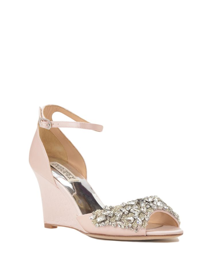 Badgley Mischka Barbara Embellished Wedge Evening Shoe, now available at the official website. Free shipping, returns and exchanges.