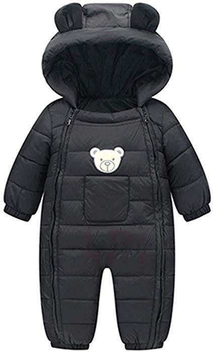 553cb7e63 Amazon.com  Toddler Cotton Romper Baby Winter Coat Zipper Long ...