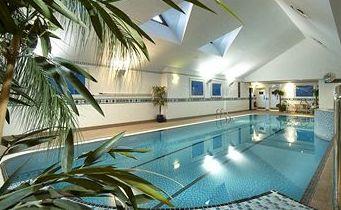 Inside Pool at the Hilton East Midlands Airport - Nottingham - UK