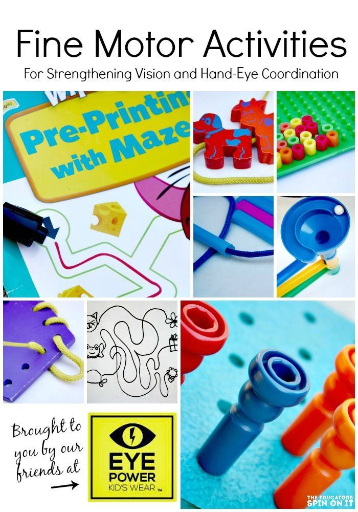 Fine Motor Activities for strengthening vision and Hand-Eye Coordination