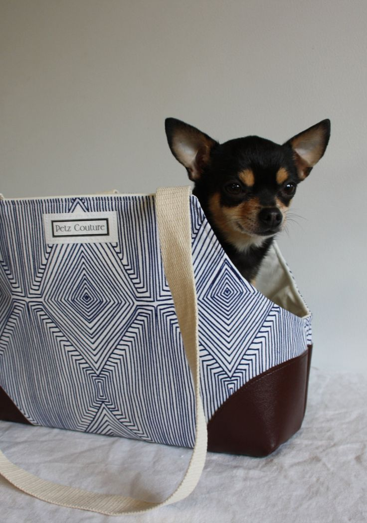 Small Dog Carrier Modern Geometric Design Chihuahua Yorkie Min Pin Puppy Miniature by PetzCouture on Etsy